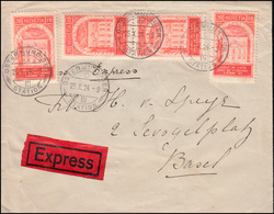Schweiz 192A Weltpostverein UPU Als MeF Auf Eil-Brief OSTERMUNDINGEN 25.10.1924 - Zwitserland