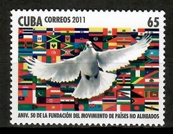 Cuba 2011 / Birds Flags MNH Aves Banderas Vögel / Cu14024  4 / 26 - Pájaros
