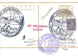 TAAF - Dumont D'Urville-T.Adélie : Entier Postal Norvège M/S Polarbjorn Avec Timbre N°715 Cor Postal  - 15/12/1984 - Terres Australes Et Antarctiques Françaises (TAAF)