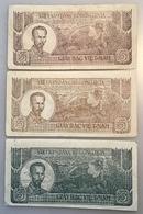 Vietnam ND (1948) 5 Dông, P. 17 3 DIFF COLOURS (banknote Billet Viet Nam Paper Money Geldschein - Vietnam