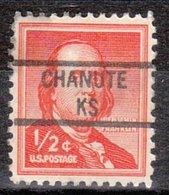 USA Precancel Vorausentwertung Preo, Locals Kansas, Chanute 841 - Vereinigte Staaten