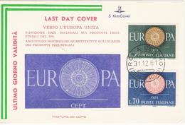 LDc Kim Cover: EUROPA (1961); Cartoncino No Viaggiato - 1946-.. République