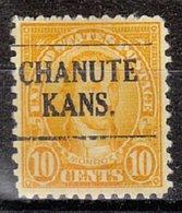 USA Precancel Vorausentwertung Preo, Locals Kansas, Chanute 642-L-3 TS, Perf. Not Perfect - Vereinigte Staaten