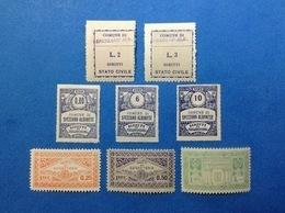 ITALIA LOTTO 8 MARCHE DA BOLLO NUOVE MNH** COMUNALI MUNICIPALI LOCAL MUNICIPAL STEMPELMARKE FISCAUX REVENUE - Revenue Stamps