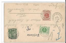 Belg. TTX Cantons De L'Est. TP Allemand EUPEN 1900 V.FOREST.TTX 3.4 + Ambulant Verviers-Bruxelles 1. TB - Taxes