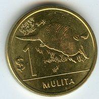 Uruguay 1 Peso 2012 UNC Mulita Tatou KM 135 - Uruguay