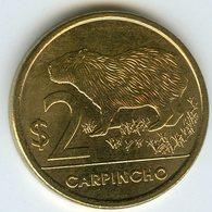 Uruguay 2 Pesos 2012 UNC Carpincho KM 136 - Uruguay