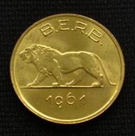 Rwanda And Burundi 1 Franc 1985. Coin Km1 Animals (Fauna). Lions. Mammals - Rwanda
