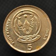 Rwanda 5 Francs Coin. 2009. KM33. EF. Africa - Rwanda