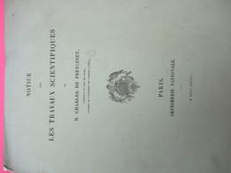 Notice/Politique/ /Les Travaux Scientifiques De Ch. De FREYCINET/Ingénieur En Chef Des Mines/Lavallée/1882     MDP124 - Libri, Riviste, Fumetti