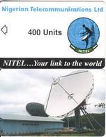 NIGERIA - Earth Station, Nigerian Telecom Ltd First Chip Issue 400 Units, Sample(no Chip, No CN) - Espacio