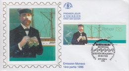 Enveloppe  FDC   1er  Jour   PORTUGAL     Emission  Commune  Avec  MONACO    1996 - Joint Issues