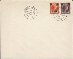 1841 Lettre Non Postée, Cachet Roodt-Syr 3.10.1941, Michel 2019: 18,21 - Besetzungen