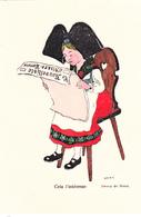 Cela L'intéresse,carte Rare De Hansi,original Sortie De Collection. - Hansi