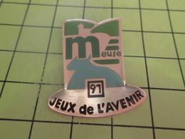 813e Pin's Pins / Beau Et Rare : THEME : JEUX OLYMPIQUES / JEUX DE L'AVENIR DE LA MEUSE 1991 - Olympic Games