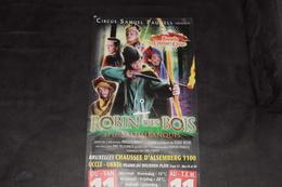 Circus Samuel Pauwels Robin Des Bois Et Les Saltimbanques 2008-09 Uccle Ukkel 50 X 23 Cm - Posters