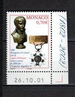 MONACO N° 2341   NEUF SANS CHARNIERE COTE 2.30€   LEGION D'HONNEUR  NAPOLEON - Unused Stamps