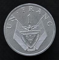 Rwanda 1 Franc 1985. Km12. Millet Flower. Uncirculated Coin - Rwanda