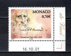 MONACO N° 2343   NEUF SANS CHARNIERE COTE 2.50€   LEONARD DE VINCI - Monaco