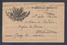 Carte Franchise Militaire Guerre 39 45 Flamme Laval Mayenne 1939 Beaux Monuments Sites Reposants - Cartes De Franchise Militaire