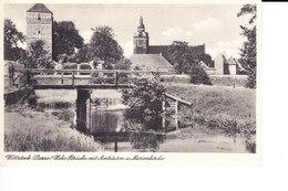 Ak Wittstock (Dosse), Brücke Mit Amtsturm Und Marienkirche - Wittstock