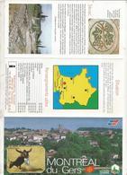Dépliant Touristique ,  MONTREAL DU GERS ,  6 Pages, 3 Scans , Frais Fr 1.55 E - Dépliants Touristiques