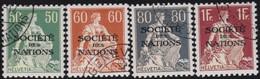 Schweiz  .  Yvert  .   Service  25a/28a  .  Papier Gaufré     .    O     .   Gebraucht     .   /   .    Oblitéré - Officials