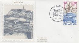 Enveloppe  FDC  1er  Jour  MONACO   Centenaire  De  L' AUTOMOBILE - CLUB    De   MONACO    1990 - FDC