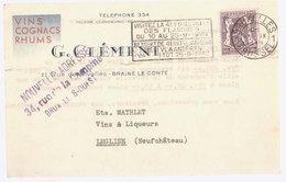 Carte Commerciale Braine Le Comte  1949 - Braine-le-Comte