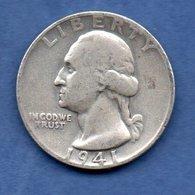 USA  --1/4 Dollar 1941 - -  Km # 164 -  état  TB+ - Federal Issues
