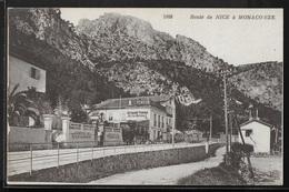 CPA 06 - Nice, Route De Nice à Monaco-Eze - Ferrovie – Stazione