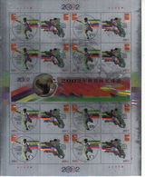China  2002-11 Soccer FIFA World Cup Japan Korea  Full Sheet(holographic And Tooth Is Printed) - Ongebruikt
