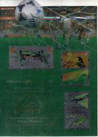China Hong Kong 2002  World Cup Football Games Stamp Joint Macau Hongkong Sheetlet (holographic And Tooth Is Printed) - 2002 – Zuid-Korea / Japan