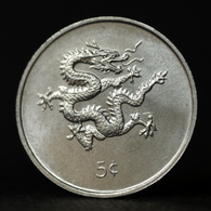Liberia 5 Cent 2000, Africa, Km474, UNC, Dragon, Animal Wildlife Coin - Liberia