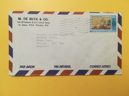 1978 BUSTA INTESTATA AIR MAIL TRINIDAD & TOBAGO BOLLO PAINTINGS DIPINTI ANNULLO PORT OF SPAIN STORIA POSTALE - Trindad & Tobago (1962-...)