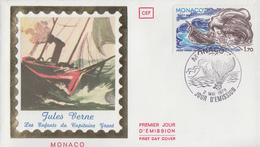 Enveloppe  FDC  1er  Jour   MONACO   Oeuvre  De  Jules   VERNE    1978 - FDC