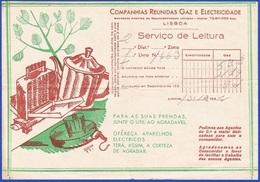Portugal,1932 - Companhias Reunidas De Gaz E Electricidade, Lisboa / Serviço De Leitura - Portugal