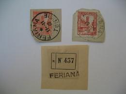 Tunisie Lot  Oblitération  Choisiesde Feriana   Sur Fragment  Voir Scan - Tunisia (1888-1955)