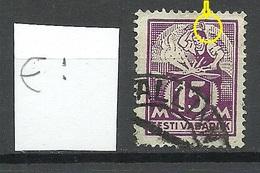 ESTLAND Estonia 1925 Michel 58 ERROR Abart Variety = Weisse Farblose Stelle O - Estland