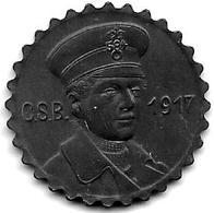 Notgeld  Crefeld 15 Pf 1917 Zn Strassebahn Schaffner Kopf  2597.1/F 84.3b - [ 2] 1871-1918 : German Empire