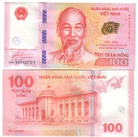 100 Dong 2016 Vietnam Viet Nam 65 Anniversario Q.fds/fds Da Mazzetta - Vietnam