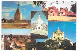 Burma - Birmanie - PAGAN - Multiview: BUPAYA PAGODA, THARABHA GATE, THATBYINNYU TEMPLE, ... - Postcards