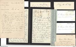 DE BENOIST Waly ( Meuse ) ( Militaria - Général Henri , Jules , Paul , Lettres ( 2 Avec Marques ) Faire Part Décès - Manuscritos