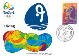 DZ Algeria 1747 Olympics Games Rio Brazil 2016 Jeux Olympiques Brésil Diving  Tauchen Plongée - High Diving