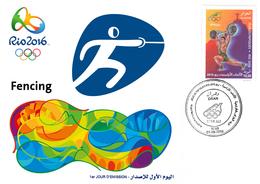 DZ Algeria 1747 Olympics Games Rio Brazil 2016 Jeux Olympiques Brésil Fencing Fechten Escrime - Fencing