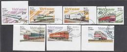 Vietnam 1988 - Trains, Imperforated, Canceled - Vietnam