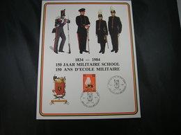 """BELG.1984 Militaire Herdenkingskaart """" MILITAIRE SCHOOL / D'ECOLE MILITAIRE """" Carte Commémorative Militaire - 1981-90"""