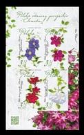Poland 2019 Mih. 5131/34 (Bl.287) Flora. Flowers. Polish Clematis Varieties MNH ** - Unused Stamps
