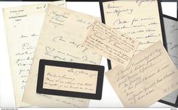 GENERAL Alexandre  JEANNEROD - Général Joseph J. 9 Lettres + Divers - Généalogie - Manuscritos