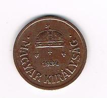 //  HONGARIJE  2  FILLER  1934 BP - Hongrie